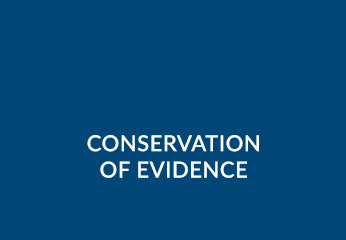 Conservation of evidence